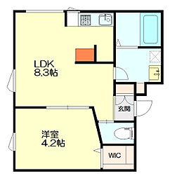 la・Terrasse(ラ・テラス) 3階1DKの間取り