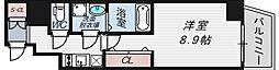 エステムコート南堀江Ⅲチュラ[12階]の間取り