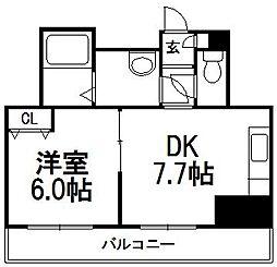 コート77[306号室]の間取り