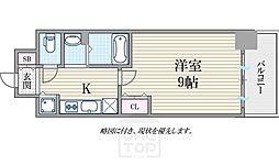 ララプレイス大阪West Prime[704号室]の間取り