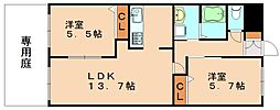 サンモールコート[1階]の間取り
