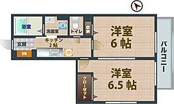 東京都杉並区井草2丁目の賃貸アパートの間取り