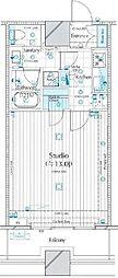 コンシェリア西新宿TOWER'S WEST(コンシェリア西新宿タワーズウ[17F号室]の間取り