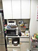 食器棚もシンク背面についています。わざわざ買う必要もありません。