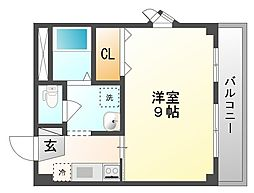 岡山県岡山市北区津島西坂2丁目の賃貸アパートの間取り