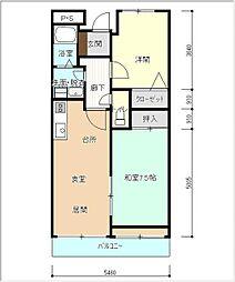 小島ガーデンハウス[102号室]の間取り