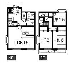 千葉県船橋市田喜野井4丁目の賃貸アパートの間取り