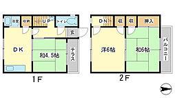 [タウンハウス] 兵庫県姫路市辻井1丁目 の賃貸【兵庫県 / 姫路市】の間取り