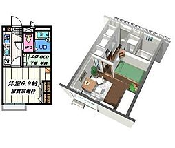 東京都江戸川区南篠崎町3丁目の賃貸アパートの間取り
