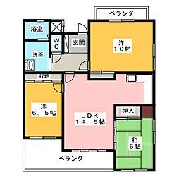 セレーブル[2階]の間取り