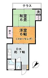 東京都江戸川区南小岩2丁目の賃貸アパートの間取り
