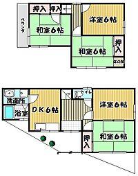 [一戸建] 大阪府泉大津市助松町3丁目 の賃貸【/】の間取り