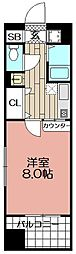 エンクレスト天神東II(405)[1001号室]の間取り