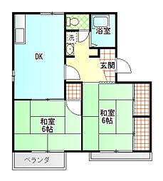 タウニィふじかわ[2階]の間取り
