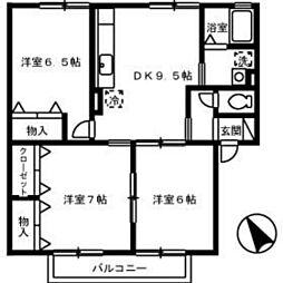 サンライトハウス A棟[2階]の間取り
