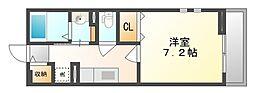 岡山県岡山市北区半田町の賃貸アパートの間取り