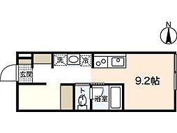 ポルトボヌール府中柳ヶ丘[1階]の間取り