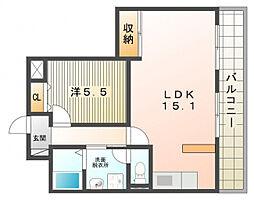 豊栄マンション[4階]の間取り