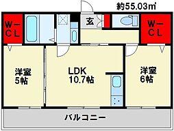 M・K・K下富野[2階]の間取り