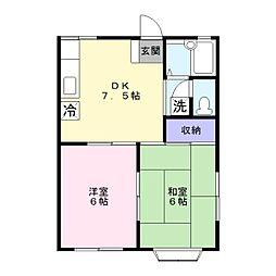 ルミエール湘南ステージ2[2階]の間取り