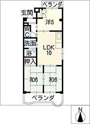 サンシャインマンション[2階]の間取り