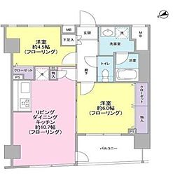 パートナーシップアパートメント 2階2LDKの間取り