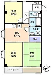 長谷川マンション[2階]の間取り