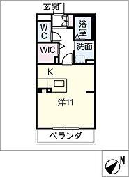 エクセルヤマナカII[3階]の間取り