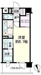 デュオステージ横濱赤門通り 5階1Kの間取り