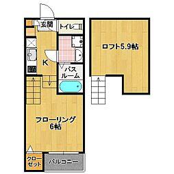 野芥新築 アパート[2階]の間取り