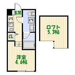 仮称)堀切2丁目コーポ[101号室]の間取り