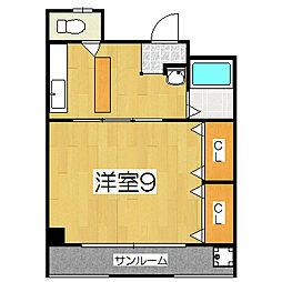 葛城マンション[407号室]の間取り