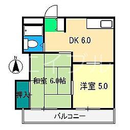 新堀ハイツII[3階]の間取り