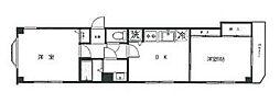 ホワイトハウス溝の口[3階]の間取り