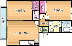 ノートルアージュブラン[3階]の間取り