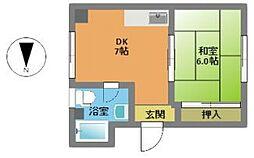 梅吉マンション[4階]の間取り