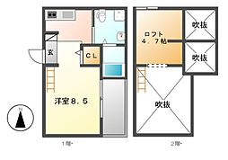 セ・ルーニア畑江[2階]の間取り