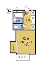 神奈川県横浜市緑区長津田3丁目の賃貸アパートの間取り