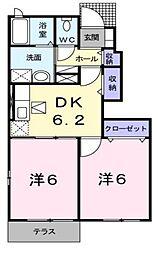 ブライドガーデンII[1階]の間取り