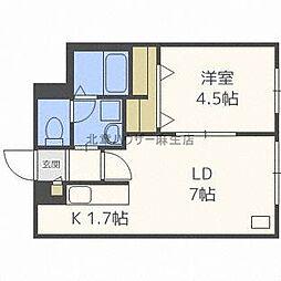 Rent北34条[2階]の間取り