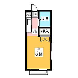川本マンション[3階]の間取り