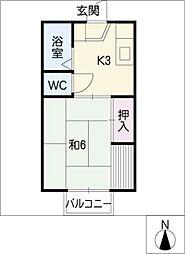 セジュールヤマト[1階]の間取り