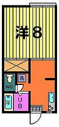 第二稲荷山ハイツ[B−1−E号室]の間取り