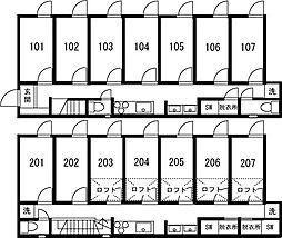 板橋本町IIシェアハウス[206号室]の間取り