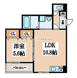 クリエオーレ川田[2階]の間取り