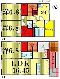 [一戸建] 東京都葛飾区堀切4丁目 の賃貸【東京都 / 葛飾区】の間取り