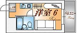 兵庫県神戸市兵庫区福原町の賃貸アパートの間取り