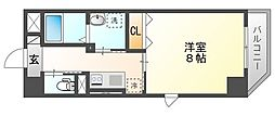 JR山陽本線 岡山駅 徒歩14分の賃貸マンション 6階1Kの間取り