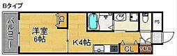 シーガルマンションII[4階]の間取り