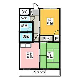 グリーンチャイムII[3階]の間取り